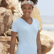 Ladies V-Neck T-Shirt by Fruit of the Loom